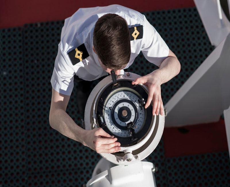 Captain Looking At Compass